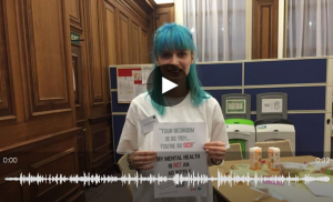 Listen to Rhiannon and other youth representatives from the second Takeover Challenge Day focusing on children and young people's mental health