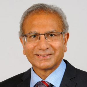 Professor Emeritus Sam H Ahmedzai - head and shoulders portrait