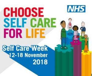 Poster advertising Self Care Week 12-18 November 2018