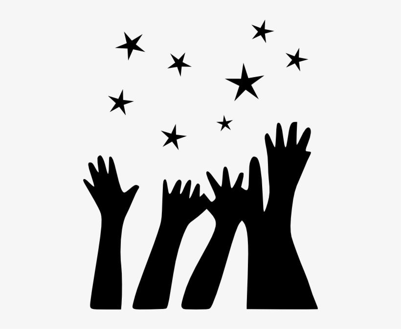 hands reaching for stars