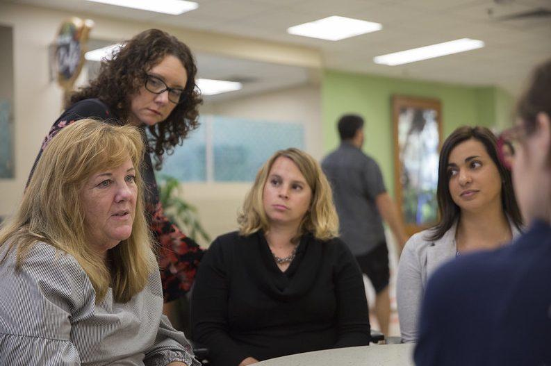 A palliative care team discussion