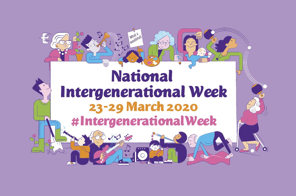 National Intergenerational Week 2020 poster