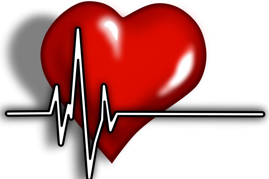 Heart cartoon overlayed with heart monitor graphic