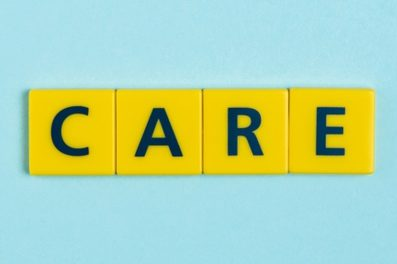 Care in scrabble letters