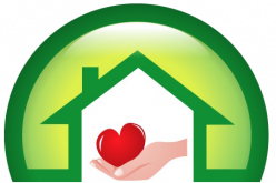 Icon showing a hanf holding a heart inside a house