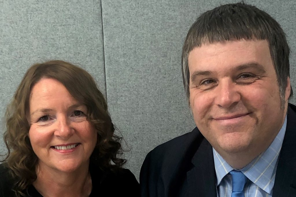 Fran Leddra and Mark Harvey, the Joint Chief Social Workers for Adults