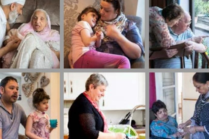 Caring behind closed doors - images of people caring for friends and family at home.