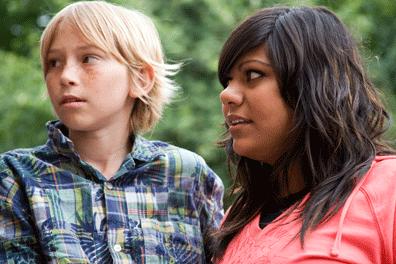 Boy and teenage carer