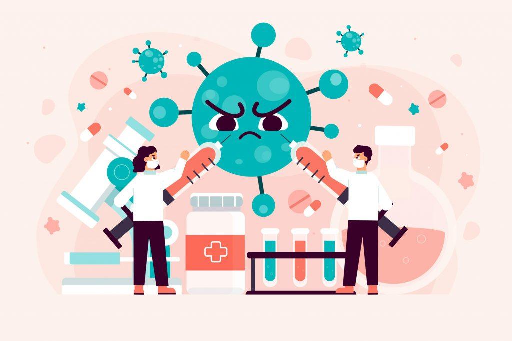 scientists-attacking-virus