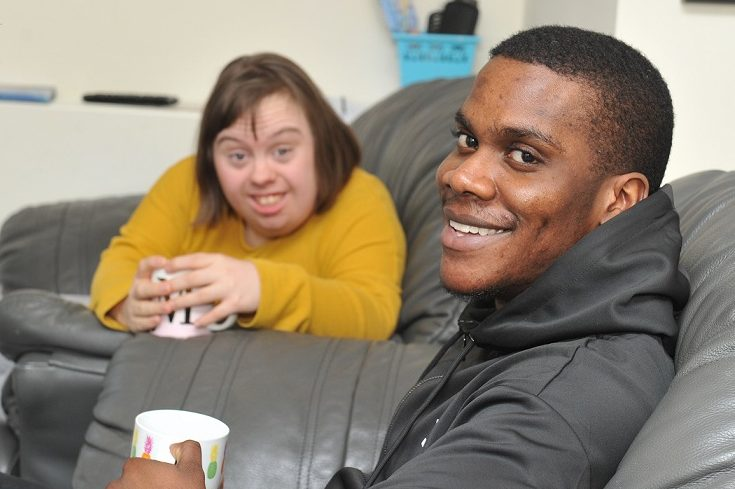 Two happy young people supported by Lifeways
