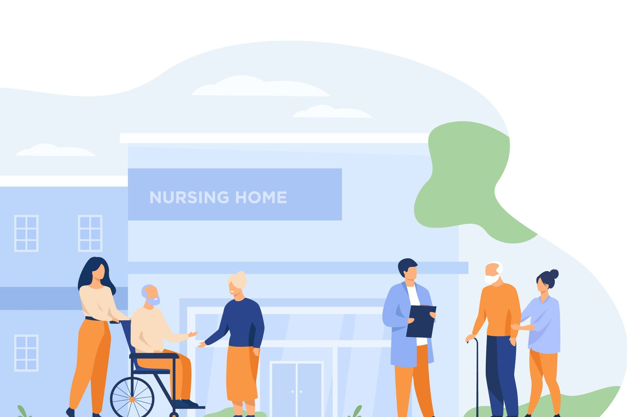Care home visitors and residents