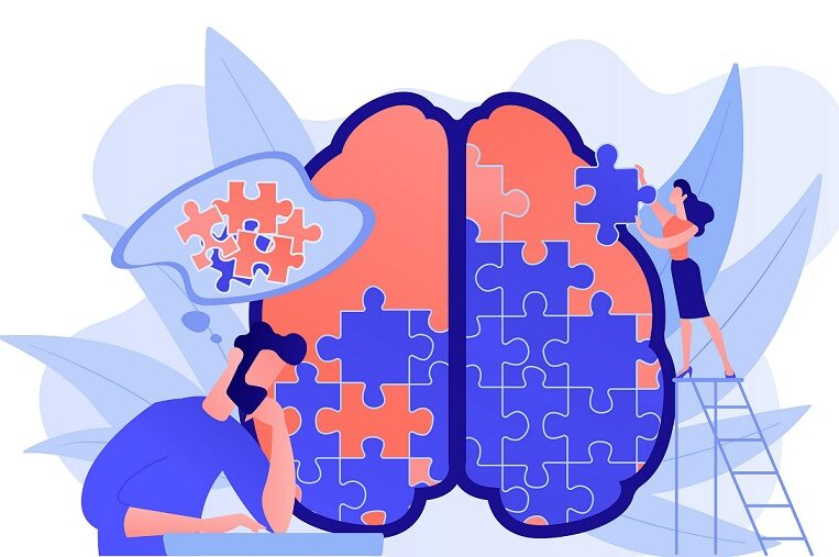 The brain represented as a puzzle.