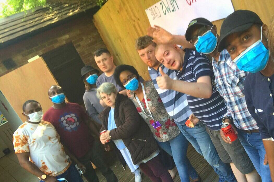 Residents gatherv to celebrate Care Home Open Week