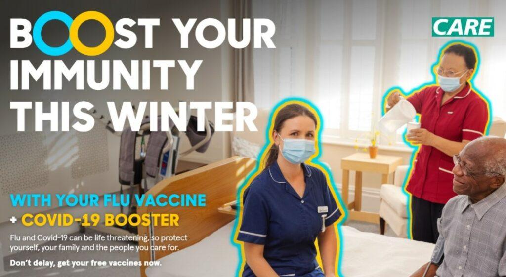 Winter vaccination campaign poster